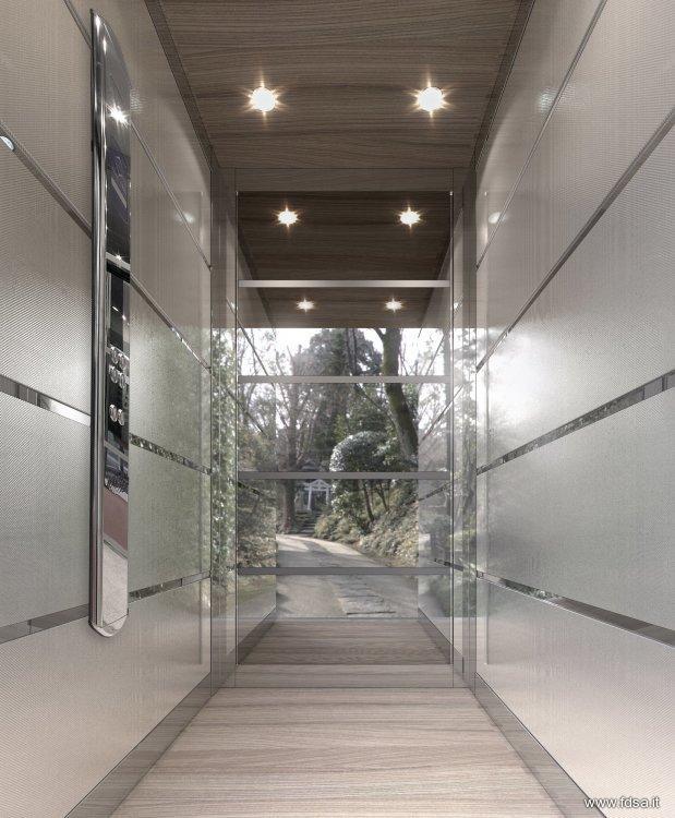 Cabine di ascensori per elfer design e rendering fdsa - Ascensori per interni ...