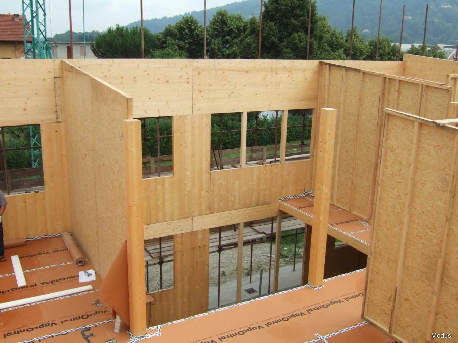 Fasi di realizzazione di case prefabbricate legno